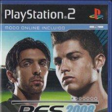 Videojogos e Consolas: PLAY STATION 2. PES 2008. PRO EVOLUTION SOCCER. 2008. MODO ONLINE INCLUIDO. COMPLETO. VIDJUEG-056. Lote 48402210