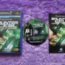 Videojuegos y Consolas: SPLINTER CELL CHAOS THEORY PAL ESP PS2 PLAYSTATION 2 COMPLETO. Lote 48596623