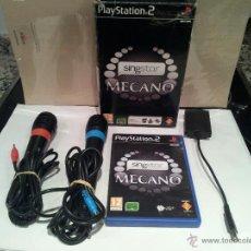 Videojuegos y Consolas: VIDEO JUEGO PARA PLAYSTATION 2 SINGSTAR MECANO VER FOTOS. Lote 49226199