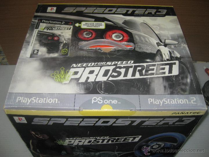 STEEDSTER 3 VOLANTE CON PEDALES Y JUEGO PRO-STREET (Juguetes - Videojuegos y Consolas - Sony - PS2)