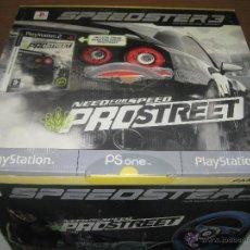 Videojuegos y Consolas: STEEDSTER 3 VOLANTE CON PEDALES Y JUEGO PRO-STREET. Lote 50112337