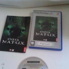 Videojuegos y Consolas: PLAYSTATION 2 ENTER MATRIX. Lote 50581449