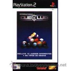 Videojuegos y Consolas: INTERNATIONAL CUECLUB PS2. Lote 52575086