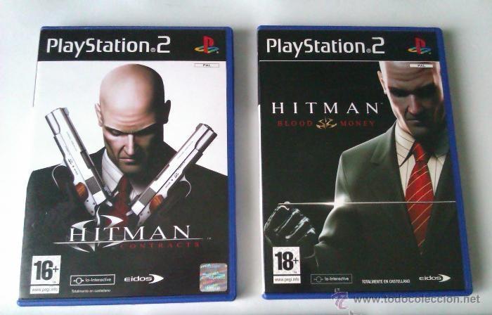 GRAN LOTE PACK DE 2 JUEGOS PARA PLAYSTATION 2 DE LA FAMOSA SAGA HITMAN EL ASESINO (Juguetes - Videojuegos y Consolas - Sony - PS2)