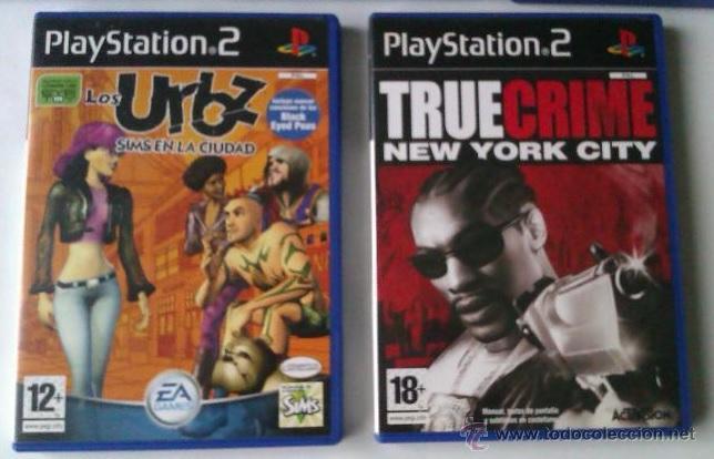 GRAN LOTE PACK DE 2 JUEGOS PARA PLAYSTATION 2 LOS URBZ SIMS EN LA CIUDAD Y TRUE CRIME NEW YORK CITY (Juguetes - Videojuegos y Consolas - Sony - PS2)