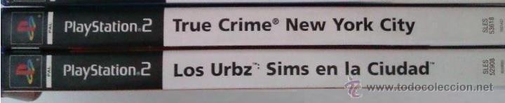 Videojuegos y Consolas: GRAN LOTE PACK DE 2 JUEGOS PARA PLAYSTATION 2 LOS URBZ SIMS EN LA CIUDAD Y TRUE CRIME NEW YORK CITY - Foto 2 - 52812538