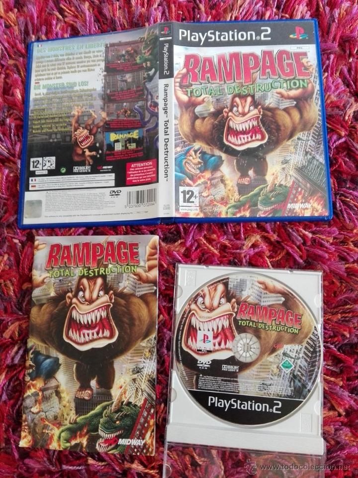 Ps2 Play Station 2 Rampage Total Destruction Pa Sold Through