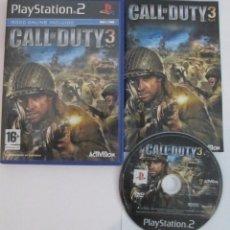 Videojuegos y Consolas: CALL OF DUTY 3 PLAYSTATION 2 PS2 ESPAÑA COMPLETO. Lote 53176505