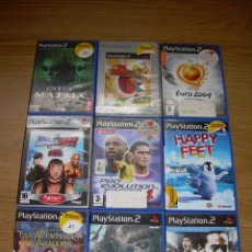 Videojuegos y Consolas: LOTE DE 9 JUEGOS PLAYSTATION 2 PS2 SIN MANUALES. Lote 53197735