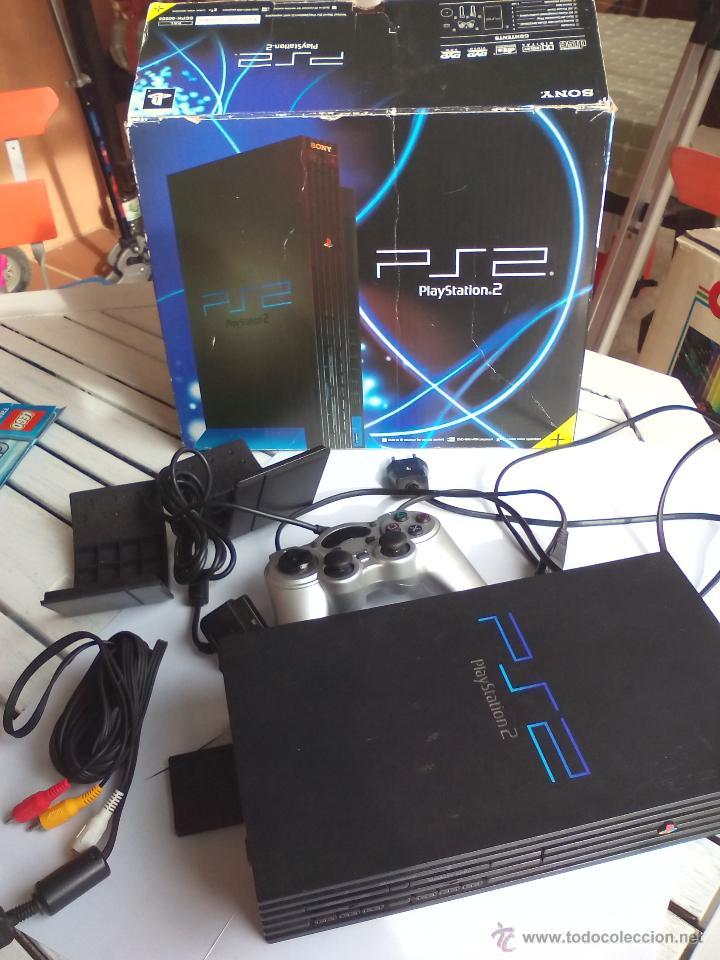 CONSOLA SONY PLAY STATION PLAYSTATION 2 PS2 PAL CON MANDO Y MEMORIA, EN SU CAJA. FUNCIONANDO (Juguetes - Videojuegos y Consolas - Sony - PS2)