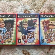 Videojuegos y Consolas: PACK 3 JUEGOS PLAYSTATION 2 (BUZZ Y 8 PULSADORES ). Lote 53973960