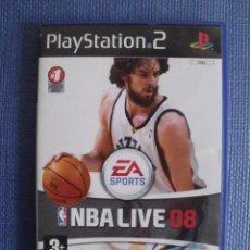 Videojuegos y Consolas: JUEGO BALONCESTO NBA LIVE 08 - PLAYSTATION 2 (PS2). Lote 54481044