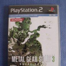 Videojuegos y Consolas: JUEGO METAL GEAR SOLID 3 SNAKE EATER - PLAYSTATION 2 (PS2). Lote 54481110