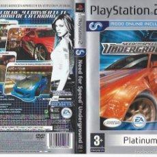 Videojuegos y Consolas: UNDERGROUND CARATULA DE PS2. Lote 56043335