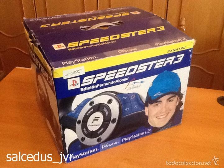 VOLANTE SPEEDSTER 3 EDICIÓN FERNANDO ALONSO OFICIAL SONY PLAYSTATION 1 PS1 PLAY STATION 2 PS2 (Juguetes - Videojuegos y Consolas - Sony - PS2)