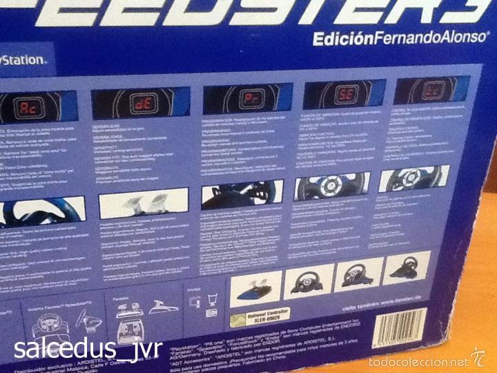 Videojuegos y Consolas: Volante Speedster 3 Edición Fernando Alonso Oficial Sony Playstation 1 PS1 Play Station 2 PS2 - Foto 12 - 56706014