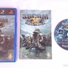 Videojuegos y Consolas: JUEGO COMPLETO SOCOM U.S NAVY SEALS US PLAYSTATION 2 PS2 PAL ESPAÑA. Lote 56953475