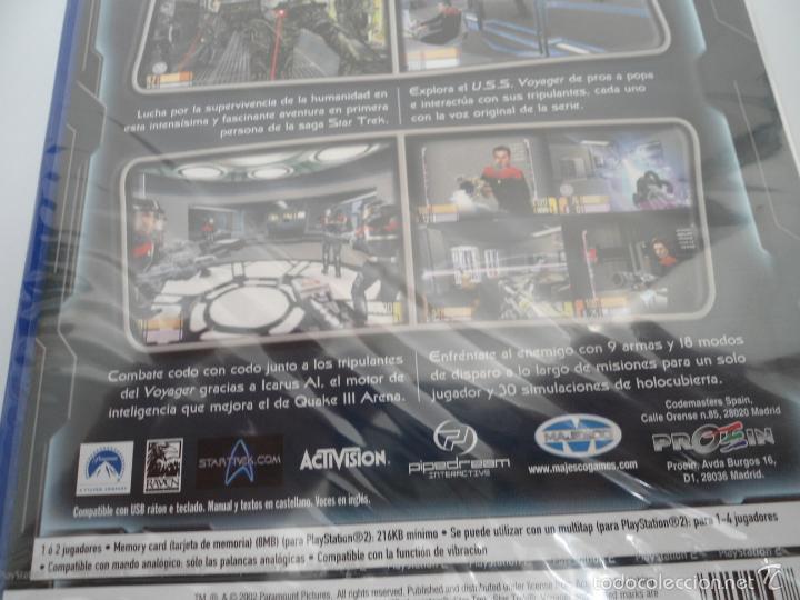 Videojuegos y Consolas: STAR TREK - VOYAGER - ELITE FORCE - SONY PS2 - PLAYSTATION 2 - NUEVO Y PRECINTADO - Foto 7 - 56611929