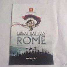 Videojuegos y Consolas: MANUAL INSTRUCCIONES GREAT BATTLE ROME PLAYSTATION 2 PS2 PAL UK INGLES. Lote 57129223