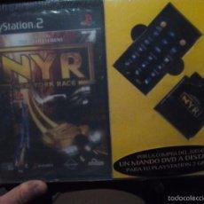 Videojuegos y Consolas: JUEGO CONSOLA PS2 NEW YORK RACE - PACK CON MANDO INALAMBRICO Y MEMORIA. Lote 57291170
