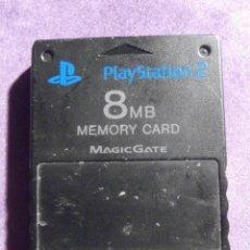 Videojuegos y Consolas: CARTUCHO, TARJETA DE MEMORIA - ORIGINAL - MEMORY CARD SONY PLAY STATION 2 PS2 8 MB. Lote 61645548