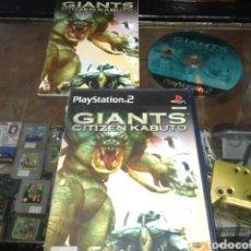 Videojuegos y Consolas: GIANTS CITIZEN KABUTO,PS2,CAJA Y MANUAL EN INGLES,JUEGO EN ESPAÑOL. Lote 62532987