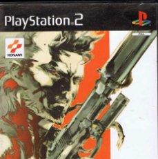 Videojuegos y Consolas: JUEGO PLAYSTATION 2 - METAL GEAR SOLID 2. SONS OF LIBERTY. Lote 63403876