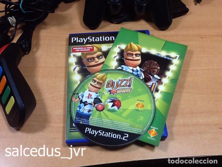 Videojuegos y Consolas: Lote Consola Sony PS2 PlayStation 2 Play Station Fat + juego Buzz Concurso de Deportes + Pulsadores - Foto 2 - 228869066