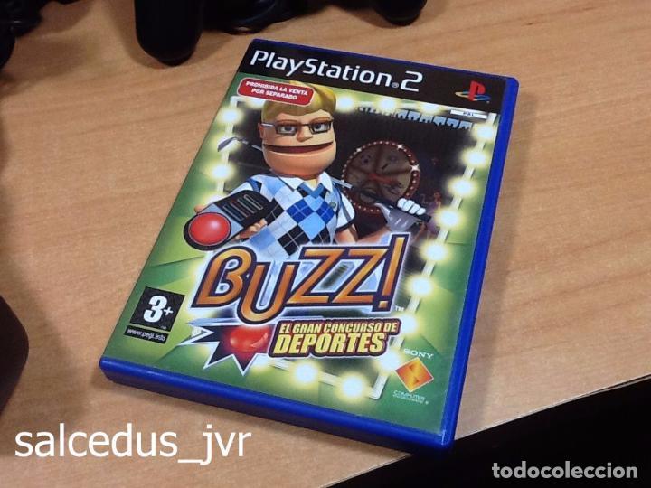 Videojuegos y Consolas: Lote Consola Sony PS2 PlayStation 2 Play Station Fat + juego Buzz Concurso de Deportes + Pulsadores - Foto 3 - 228869066
