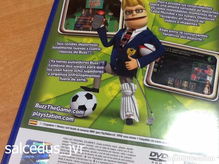 Videojuegos y Consolas: Lote Consola Sony PS2 PlayStation 2 Play Station Fat + juego Buzz Concurso de Deportes + Pulsadores - Foto 6 - 228869066