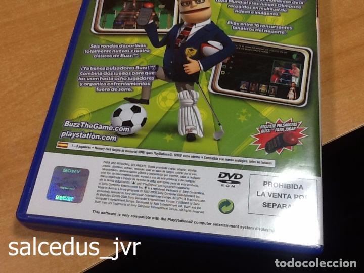 Videojuegos y Consolas: Lote Consola Sony PS2 PlayStation 2 Play Station Fat + juego Buzz Concurso de Deportes + Pulsadores - Foto 7 - 228869066