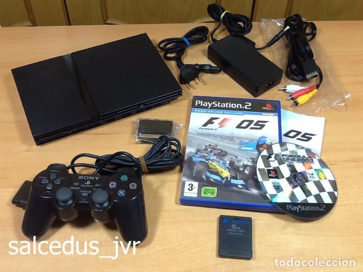 LOTE CONSOLA SONY PS2 PLAYSTATION 2 PLAY STATION PAL SLIM + JUEGO F1 05 TODO EN BUEN ESTADO (Juguetes - Videojuegos y Consolas - Sony - PS2)