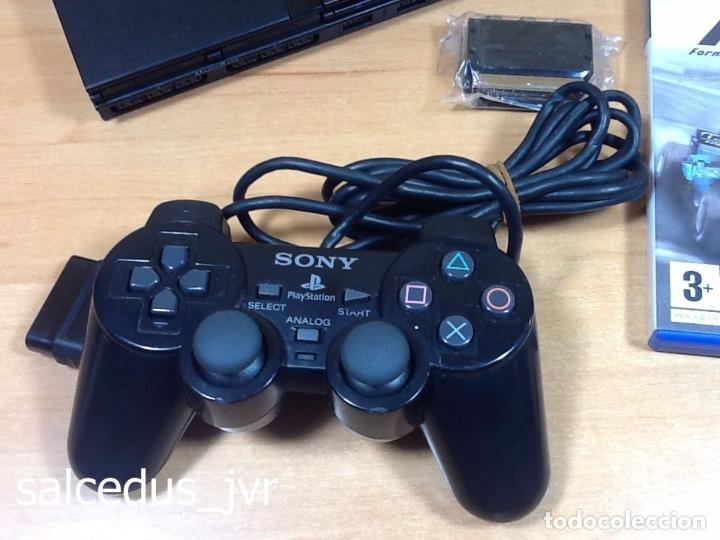 Videojuegos y Consolas: Lote Consola Sony PS2 PlayStation 2 Play Station PAL Slim + juego F1 05 Todo en Buen Estado - Foto 2 - 68268573