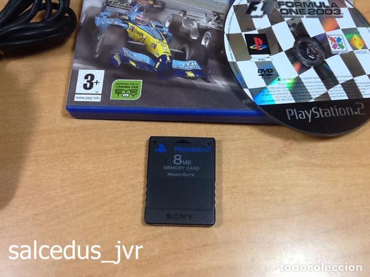 Videojuegos y Consolas: Lote Consola Sony PS2 PlayStation 2 Play Station PAL Slim + juego F1 05 Todo en Buen Estado - Foto 3 - 68268573
