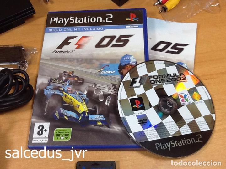 Videojuegos y Consolas: Lote Consola Sony PS2 PlayStation 2 Play Station PAL Slim + juego F1 05 Todo en Buen Estado - Foto 4 - 68268573