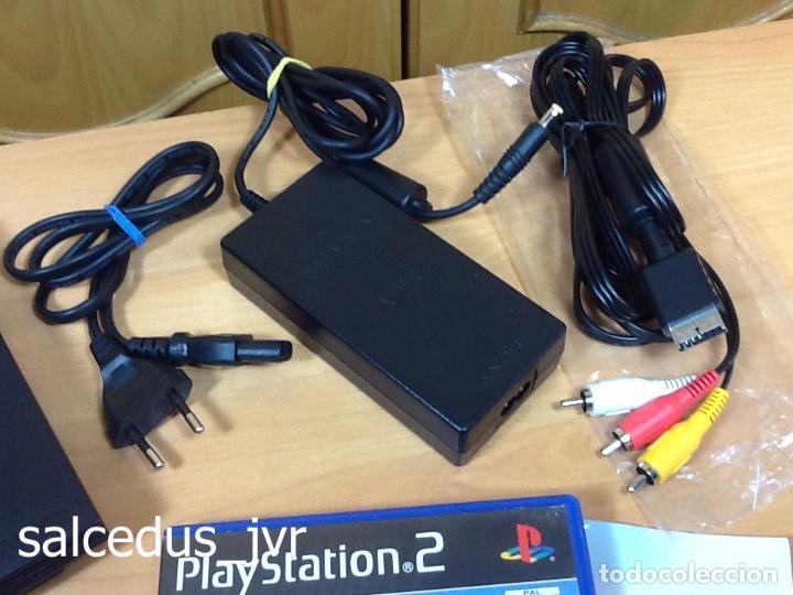 Videojuegos y Consolas: Lote Consola Sony PS2 PlayStation 2 Play Station PAL Slim + juego F1 05 Todo en Buen Estado - Foto 5 - 68268573