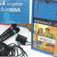 Videojuegos y Consolas: SINGSTAR LATINO PLAY PS2 -DIFICIL PACK EDICION BLUE BBVA - COMPLETO - PLAY STATION 2 DOS - . Lote 144423252