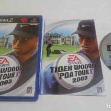 Videojuegos y Consolas: JUEGO TIGER WOODS PGA TOUR GOLF 2003 PLAYSTATION 2 PS2 PAL ESPAÑA.. Lote 74154035