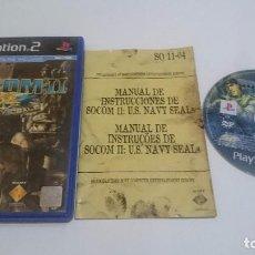 Videojuegos y Consolas: JUEGO SOCOM II 2: U.S. NAVY SEALS PLAYSTATION 2 PS2 PAL ESPAÑA. Lote 74154751