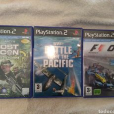 Videojuegos y Consolas - FORMULA ONE 05 + WWII: BATTLE OVER THE PACIFIC + GHOST RECON JUNGLE STORM PS2 - 76111213