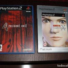Videojuegos y Consolas: PS2 RESIDENT EVIL 4,Y CODE VERONICA X PLAYSTATION 2. Lote 26902535