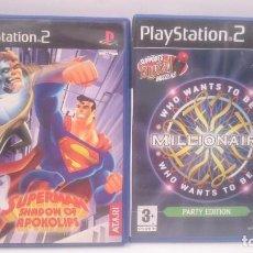 Videojuegos y Consolas: SUPERMAN + QUIERE SER MILLONARIO SONY PLAYSTATION PS2 PAL.ENVIOS COMBINADOS. Lote 84711968