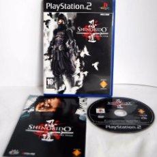 Videojuegos y Consolas: SHINOBIDO LA LEYENDA DEL NINJA COMPLETO DE PLAYSTATION 2 MUY BIEN CUIADADO PS2 PSX PS 2. Lote 86837592