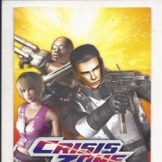 Videojuegos y Consolas: MANUAL DE PS2 - CRISIS ZONE - . Lote 89119456