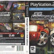 Videojuegos y Consolas: CARATULA PS2 - MIDNIGHT CLUB-3. Lote 89305912