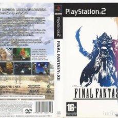 Videojuegos y Consolas: CARATULA PS2 - FINAL FANTASY XII. Lote 89307132