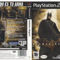 Videojuegos y Consolas: CARATULA PS2 - BATMAN BEGINS. Lote 89307448