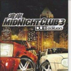 Videojuegos y Consolas: MANUAL PS2 - MIDNIGHT CLUB-3. Lote 89308804