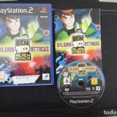 Videojuegos y Consolas: BEN 10 ALIEN FORCE: VILGAX ATTACKS PLAYSTATION 2. Lote 92045915
