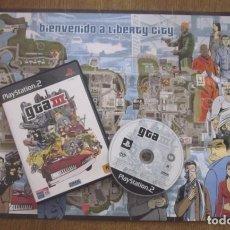 Videojuegos y Consolas: GTA III JUEGO PLAYSTATION 2 PAL VINTAGE DMA ROCKSTAR 2001 ( INCLUYE MAPA DE LIBERTY CITY ). Lote 94549127